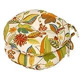 Greendale Home Fashions Round Indoor/Outdoor Bistro Chair Cushion, Esprit, 15-Inch, Set of 2