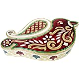 "Lavender Craft SPARROW Shaped Handmade Meenakari Decorative Box/ Dry Fruit Box - 7.75""x4.75""x1.25""-MEDIUM"