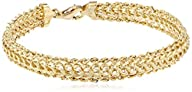 14k Yellow Gold Braided Rope Bracelet…