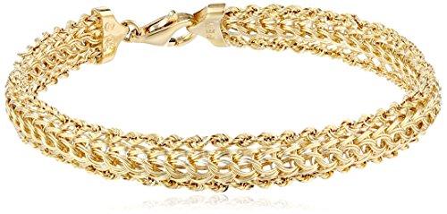 14k Yellow Gold Braided Rope Bracelet