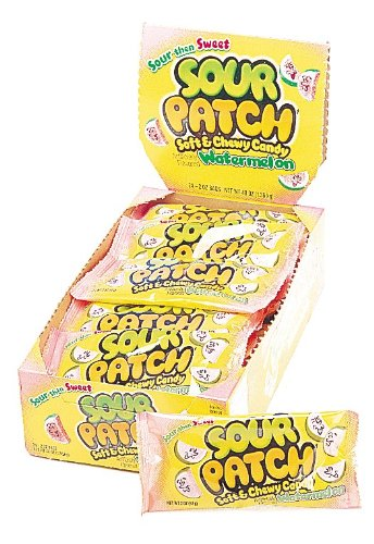 Sour Patch Soft and Chewy Candy Watermelon 2 Ounce Bags Pack of 24