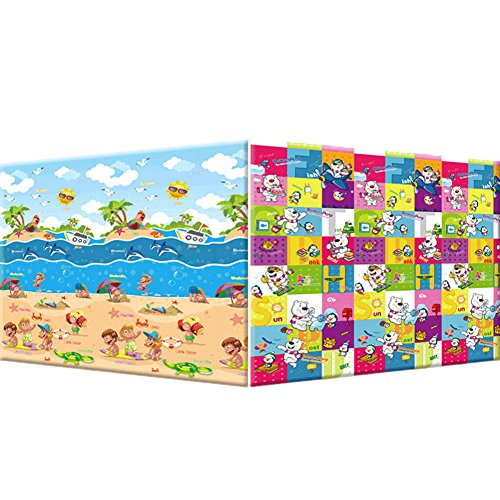 Baby Picnic Game Mats 180*200*0.5Cm Cartoon Bear Sea Foam Floor Mats