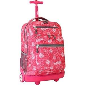 J World New York Sundance Laptop Rolling Backpack (ALOHA)