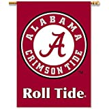 NCAA Alabama Crimson Tide 2-Sided 28-by-40 inch House Banner With Pole Sleeve