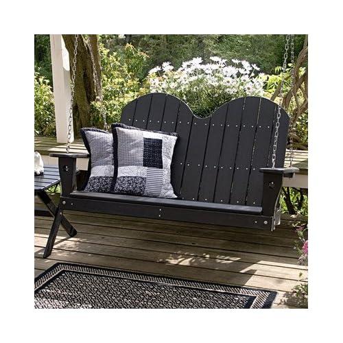 Amazon.com : Lifestyle Poly Resin Porch Swing Finish: Green : Patio