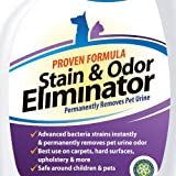 **#1 Pet Odor Eliminator Urine Remover ** - CRI Certified Enzyme Cleaner For Old & New Stains - FREE BONUS Included - GUARANTEED Most Powerful Stain Odor Remover Urine Destroyer - Pet Stain Remover With Advanced Bacteria Strain - Effective Carpet Stain Rem