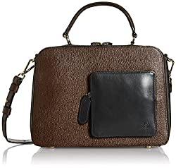 Orla Kiely Textured Leather Shoulder Bag