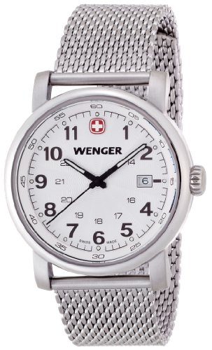 Wenger Men's Watch XL Analogue Quartz Stainless Steel Classic 01,1041,103 Urban