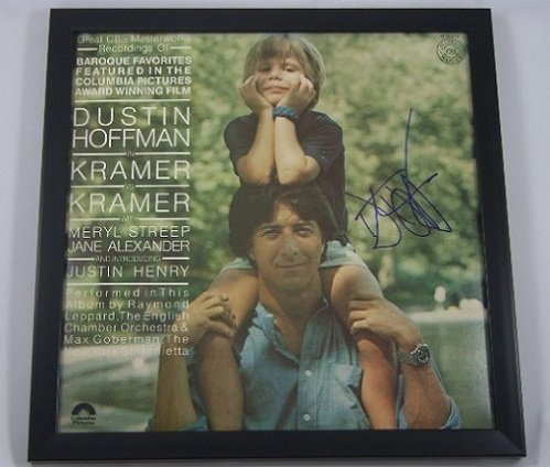 Dustin Hoffman Kramer vs. Kramer Signed Autographed Original Motion Picture Soundtrack Record with Vinyl Framed Loa