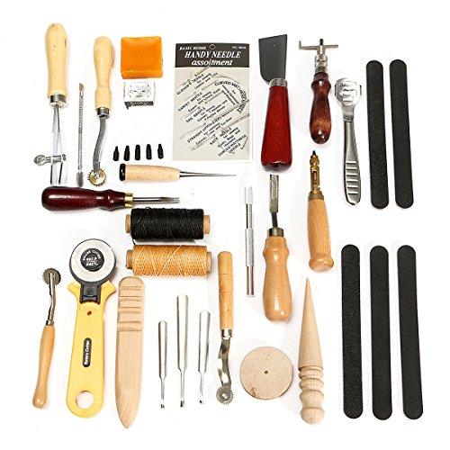 Leder-Handgerte-Set-30pcs-lederne-Fertigkeit-Stitching-Schnitzen-Groover-Stanzwerkzeuge-DIY-Leder-Handwerk-Stanzwerkzeuge-Kit-Stitching-Schnitzen-Heftsattel-Groover-Leder-Craft-Handwerkzeuge-Kit-handg