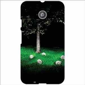 Moto E (2nd Gen) 4G Back Cover - Green Grass Designer Cases