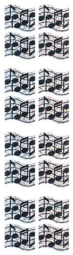 Jillson Roberts Prismatic Stickers, Mini Music Staffs, 12-Sheet Count (S7030)