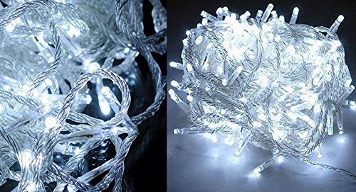 Decorative 100-Led String Fairy Lights For Wedding / Christmas Party (10M)-100-Led, 10M, Us, White Light - (Premium Quality)