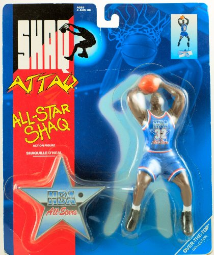 1993 - Kenner - Over-The-Top Collection - Shaq Attaq - All-star Shaq Action Figure - NBA All-Stars - Shaquille O'Neal - 7 inch - with Base - New - Out of Production - Rare - Collectible - 1