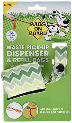 bags-on-board-dog-waste-bag-dispenser-with-14-refill-bags-chevron-pattern
