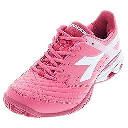 Diadora Women\'s S.Star K IV Tennis Shoes-Paradise Pink/Super White-7