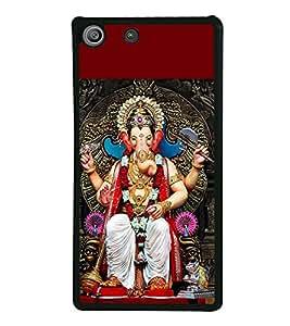 Ganpati 2D Hard Polycarbonate Designer Back Case Cover for Sony Xperia M5 Dual :: Sony Xperia M5 E5633 E5643 E5663