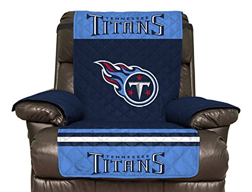 NFL Tennessee Titans Recliner Reversible Furniture Protector with Elastic Straps, 80-inches by 65-inches at Steeler Mania