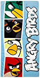 Rovio Angry Birds Blocks Fiber Reactive Beach Towel, Blue