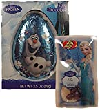 Frankford Disney Frozen Olaf Chocolate Egg with Frozen Jelly Belly Icicle Mix Jelly Beans
