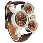 Oulm Three Time Display Quartz Mens M...