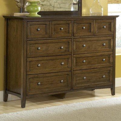 Modus Furniture International Paragon 8-Drawer Dresser, Truffle front-832748