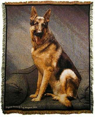 Animal Throw Blanket - German Shepherd Dog Tapestry Throw