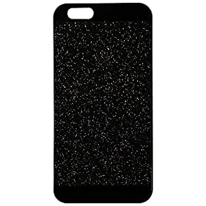 iPhone 5/5s Case ,LA GO GO(TM) Beauty Luxury Hybrid TPU Shiny Sparkling PC Hard Bling Glitter with Crystal Diamond Cover Case for iPhone 5 5s 5g - Retail Packaging (Black, iPhone 5/5S)