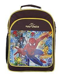 Right Choice Nursery,Lkg,Ukg,Kids,Girls,Boys, Spider Man,School bag,Purple & yellow (RCS4045)