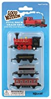 Toysmith Mini Pull-Back Train Set, As…
