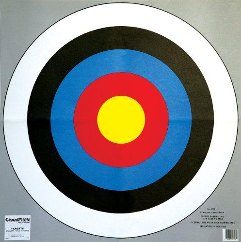 Champion 24-Inch Bullseye Archery Target (2-pack)