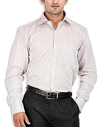 SPEAK Brown Checks Cotton Mens Formal Shirt