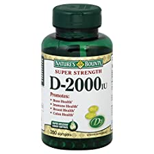 Natures Bounty Vitamin D, Super Strength, 2000 IU, Softgels, 200 softgels