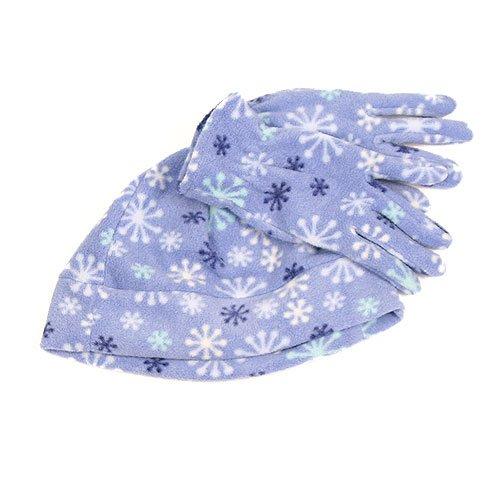 Girls Fashion Fleece Beanie & Glove Sets