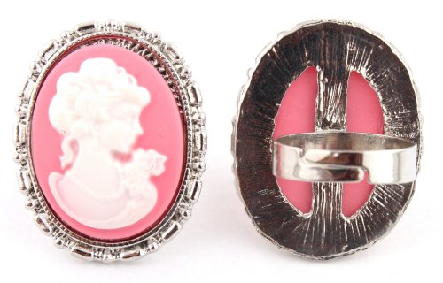 Pink Mary Antoinette Metal Adjustable Finger Ring