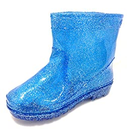 Toddler & Little Boys Blue Glitter Rain Boots (8)