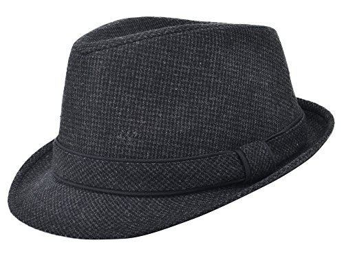 Men and Women Summer Wool Felt Brim Round Fedora Trilby Gangster Hat ... 75598d6b3f5