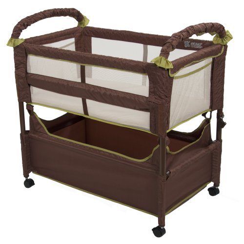 Lowest Prices! Arm's Reach Concepts Clear-Vue Co-Sleeper, Cocoa/Fern