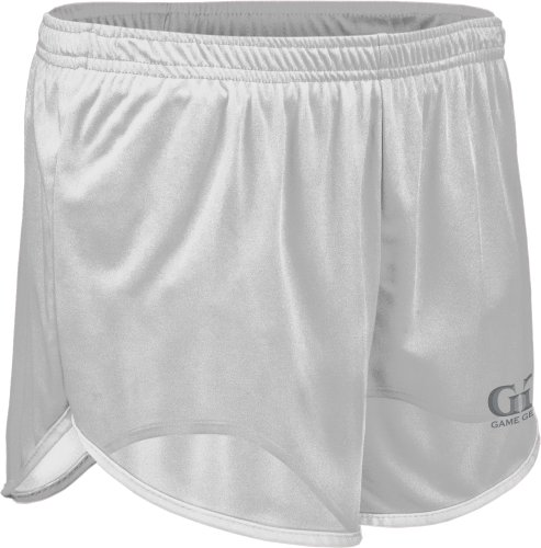 Tr403Y Boys And Girls Performance Single Ply Ultra-Light Run Tech Short (Youth Small, White)