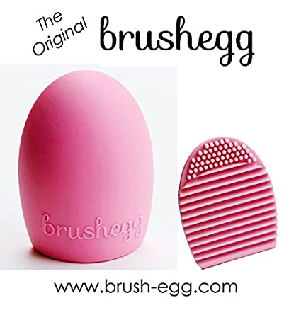 The Original BrushEgg - Cosmetic Make-Up Brush Cleaning Tool (Pink)