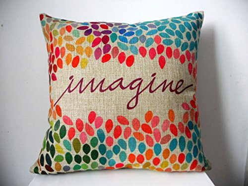 "Decorbox Cotton Linen Square Decor Throw Pillow Case Cushion Cover Colorful Imagine 18"""