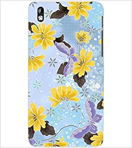 PrintDhaba FLOWER PATTERN D-6414 Back Case Cover for HTC DESIRE 816 (Multi-Coloured)