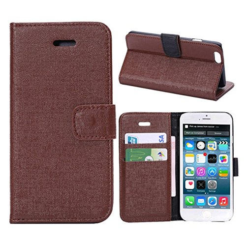 Iphone 6 Phone Case Borch Fashion Multi-Function Wallet For Iphone 6 Case Luxury Pu Leather Carrying Case Cover With Credit Id Card Slots/ Money Pockets Flip Leather Case For Iphone 6 5.5 Inch Borch Screen Protector (Brown)
