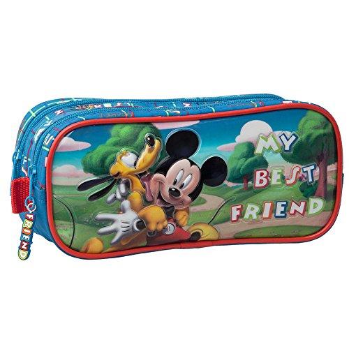 Disney 1624201 Trousse Da Viaggio Con Astuccio, Pluto E Topolino Multicolore (Azzurro)