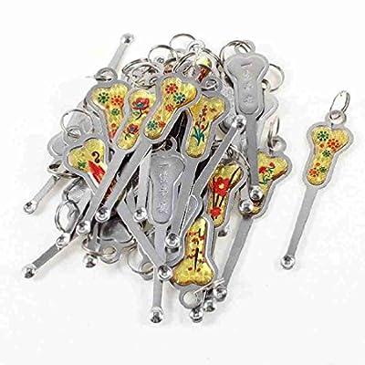 Move&Moving(TM) 30 Pcs Metal Earpick Earwax Spoon Ear Wax Remover Tool w Keyring