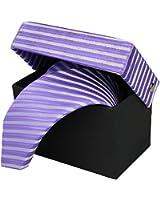 Krawatten Set 4er 8,5cm Krawatte + Einstecktuch + Manschettenknöpfe + Krawattennadel 100% Seide viele Farben und Designs