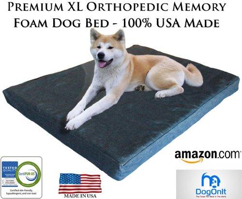 Extra Large Memory Foam Orthopedic Dog Bed -