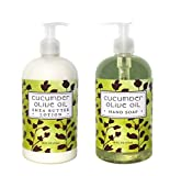 Cucumber And Olive Oil Hand & Body Lotion And Cucumber And Olive Oil Hand Soap Duo Set 16 Oz Each By Greenwich Bay Trading Co.