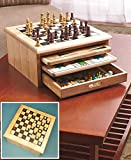 10-in-1 Classic Wood Game Center