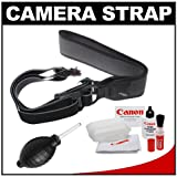 Joby UltraFit Sling Camera Strap for Men (Charcoal) with Canon Cleaning Kit for Canon T3, T3i, T4i, EOS 60D, 6D, 7D, 5D Mark II, IDs, 1D, 1DX
